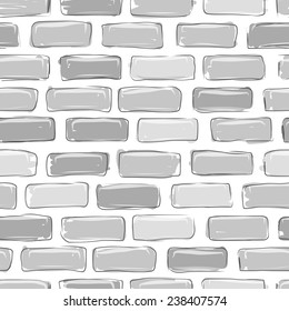 Brick wall grey, sketch for your design, vector illustration