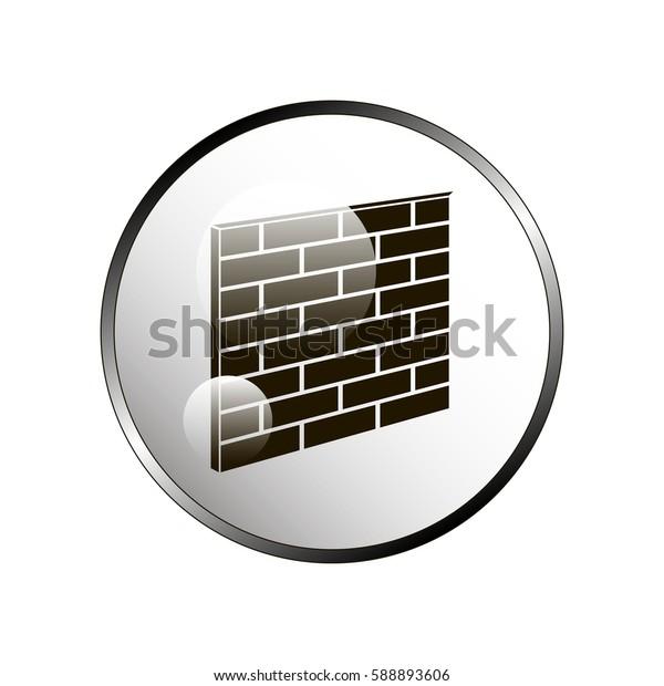 Brick Wall Icon.