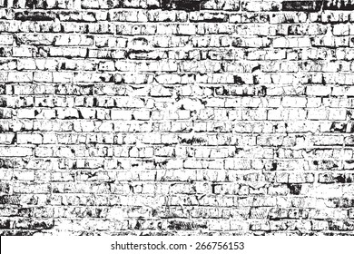 Brick wall overlay texture - for your design. EPS10 vector.
