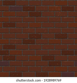 Brick wall with red brick  red brick background  vector illustration background.