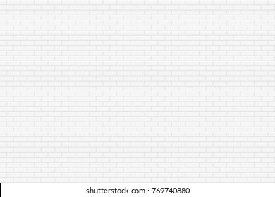 Brick wall seamless geometric texture. White design - simple vector background.