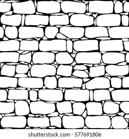 Brick wall seamless pattern. Old wall background. Simple vector illustration