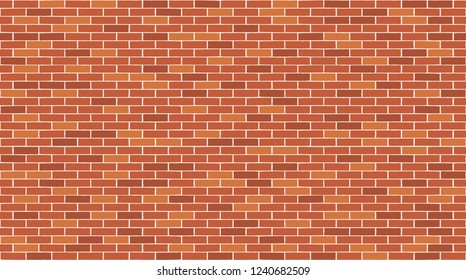 Brick wall seamless pattern. Vector background