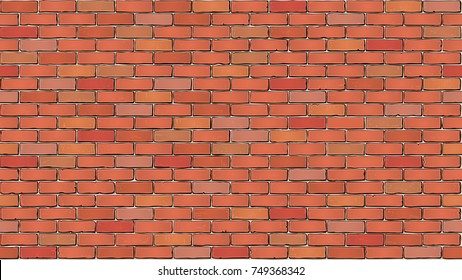 Brick wall. Seamless tile texture.