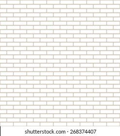 Brick Wall Texture with Small Bricks in White and Light Brown