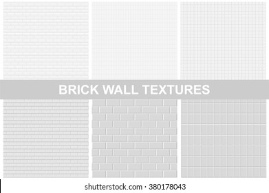 Brick wall textures - seamless vector set.