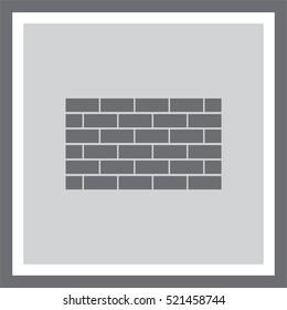 Brick wall vector icon. Construction sign. Build symbol.