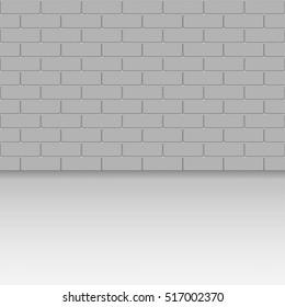 brick wall. vector illustration