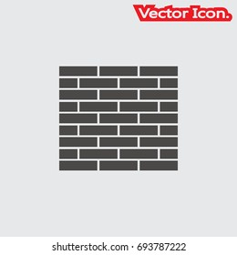 Brick work icon isolated sign symbol and flat style for app, web and digital design. Vector illustration.