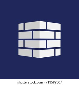 Bricks icon. Bricks logo. isolated on background. Vector illustration. Eps 10.