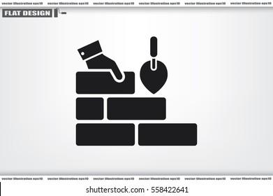 Bricks icon vector illustration.