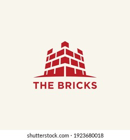 the bricks logo fortress symbol abstract
