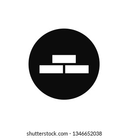 Bricks rounded icon