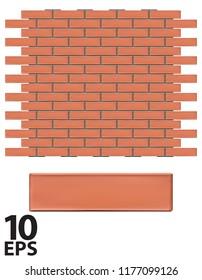 Bricks wall vector 3d illustration