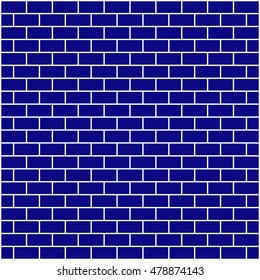 Brickwork. Blue abstract background. Vector illustration. For your design.