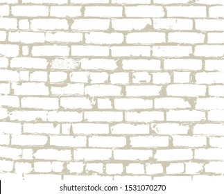The brickwork of the old background, texture. Brick silhouette. The vector element is isolated with the ability to overlay.