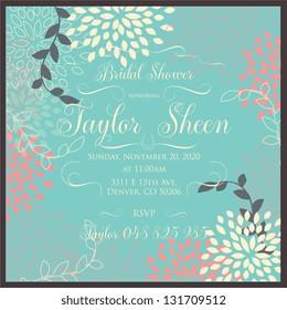 Bridal invitation card
