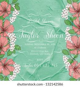 Bridal invitation cards