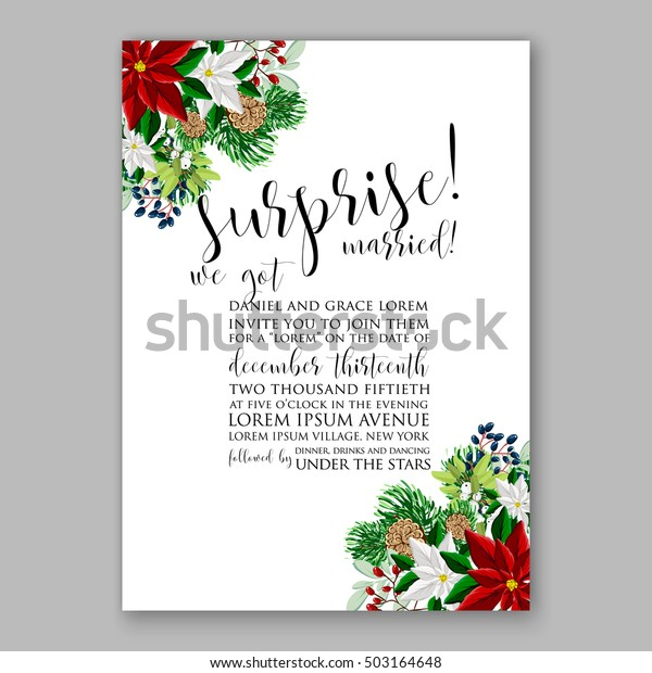 Bridal Shower Invitation Card Template Winter