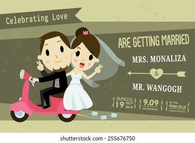 1000 Cartoon Wedding Invitation Stock Images Photos Vectors