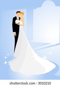 Bride and Groom - Vector