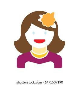 bride icon. flat illustration of bride - vector icon. bride sign symbol