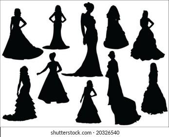 bride silhouette collection