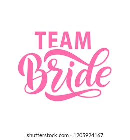 bride team word calligraphy fun design to print on tee shirt hoody poster
