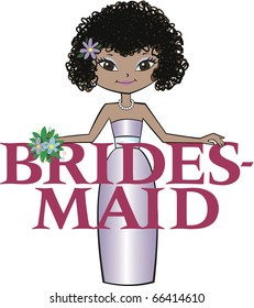 Bridesmaid Curly Black Hair Mocha Skin Tone Asian Features