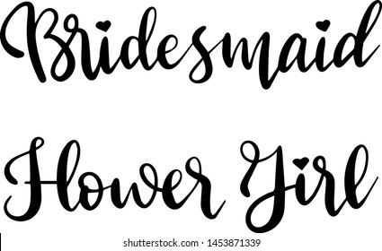 Bridesmaid flower girl decoration for T-shirt