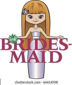 Bridesmaid Long Red Hair Brown Eyes