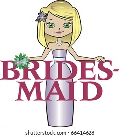 Bridesmaid Med Blonde Hair Green Eyes