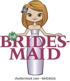 Bridesmaid Med Red Hair Brown Eyes
