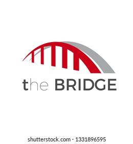 Bridge. Connection and communications concept. Vector logo