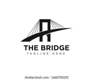 Bridge Construction Logo Icon Design Vector