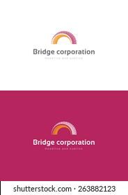 Bridge corporation logo teamplate.