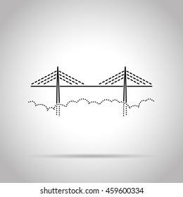 bridge flat line icon