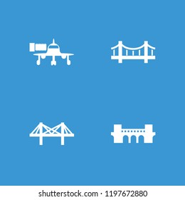 Bridge icon. collection of 4 bridge filled icons such as . editable bridge icons for web and mobile.