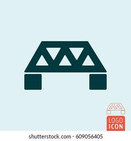 Bridge icon. Engineering construction symbol. Vector illustration