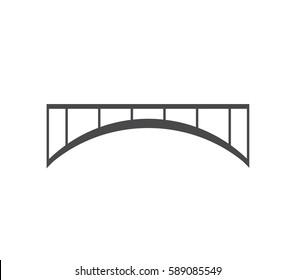 Bridge icon.  Bridge illustration.