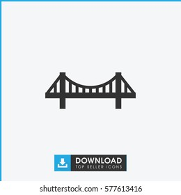bridge icon illustration isolated vector sign symbol