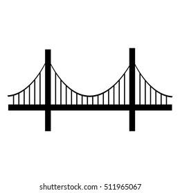 Bridge Icon isolated on background