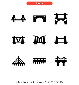 bridge icon isolated sign symbol vector illustration - Collection of high quality black style vector icons