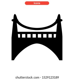 bridge icon isolated sign symbol vector illustration - high quality black style vector icons