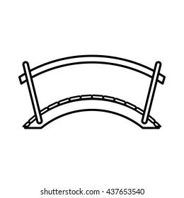 Bridge icon, outline style