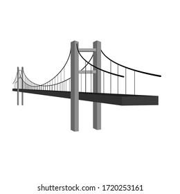 Bridge icon or simple logo. Bridge architecture and constructions. Modern building connection. Vector illustration
