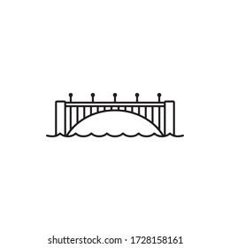 Bridge Icon In Trendy  Design Vector Eps 10