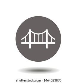 Bridge icon vector. Building symbol. Architecture pictogram, flat vector sign. Simple vector illustration for graphic and web design.