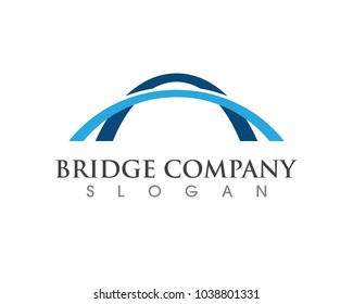 Bridge icon vector illustration Logo template design