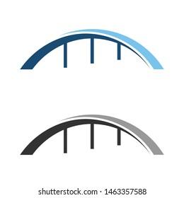 Bridge icon vector illustration Logo template design. creative abstract bridge logo. abstract bridge logo design template.